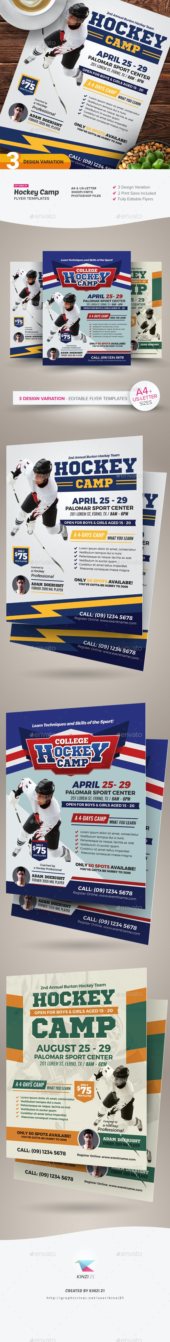 Hockey Camp Flyer Templates - Sports Events