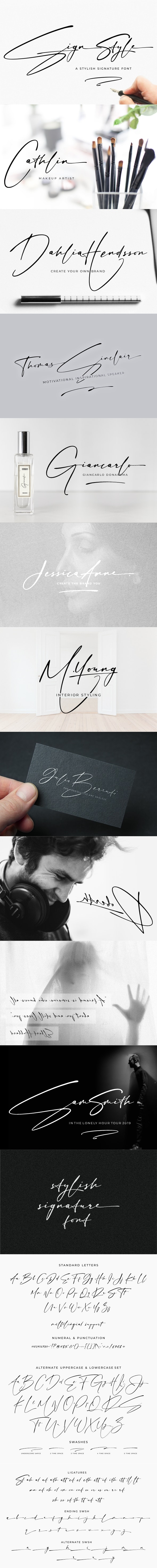 Sign Style | Signature font - Hand-writing Script