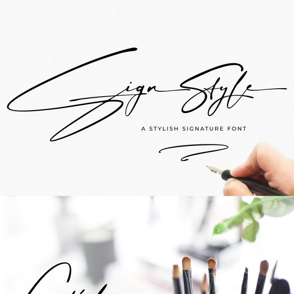 Sign Style | Signature font