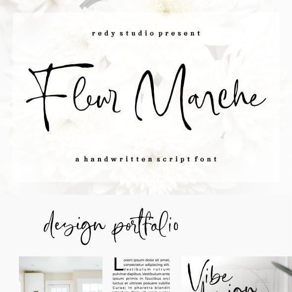 Fleur Marche | a Handwritten Script