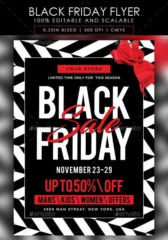 Black Friday Flyer By Atelierart Graphicriver