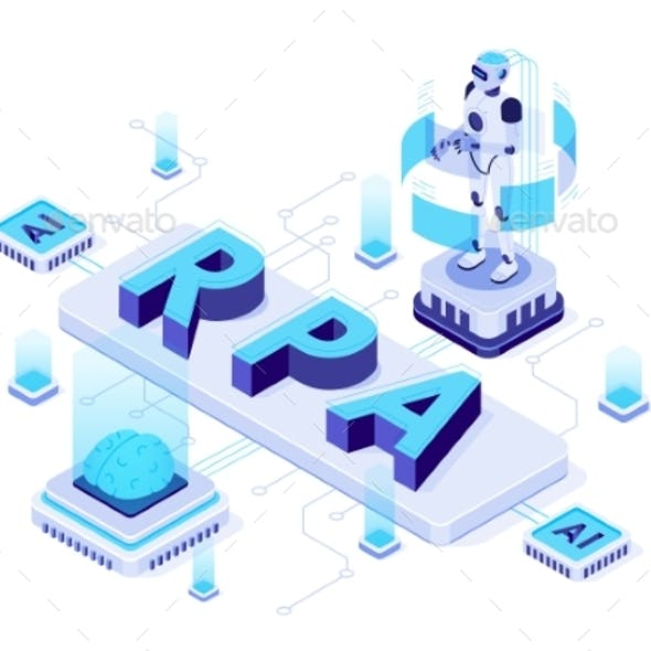 Isometric RPA Robotic Process Automation