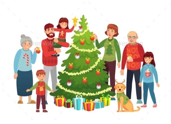 Cartoon Christmas Family Portrait Xmas Tree By Tartila Graphicriver Dear all, i am really concerned about how are you going to draw people in your perspectives, therefore i'm. https graphicriver net item cartoon christmas family portrait xmas tree 24833482