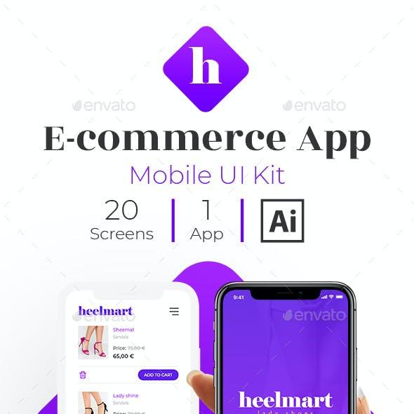 Heelmart - Mobile E-commerce App Ui kit