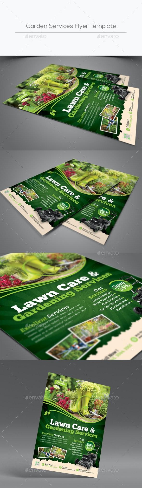 Garden Services Flyer Template - Flyers Print Templates