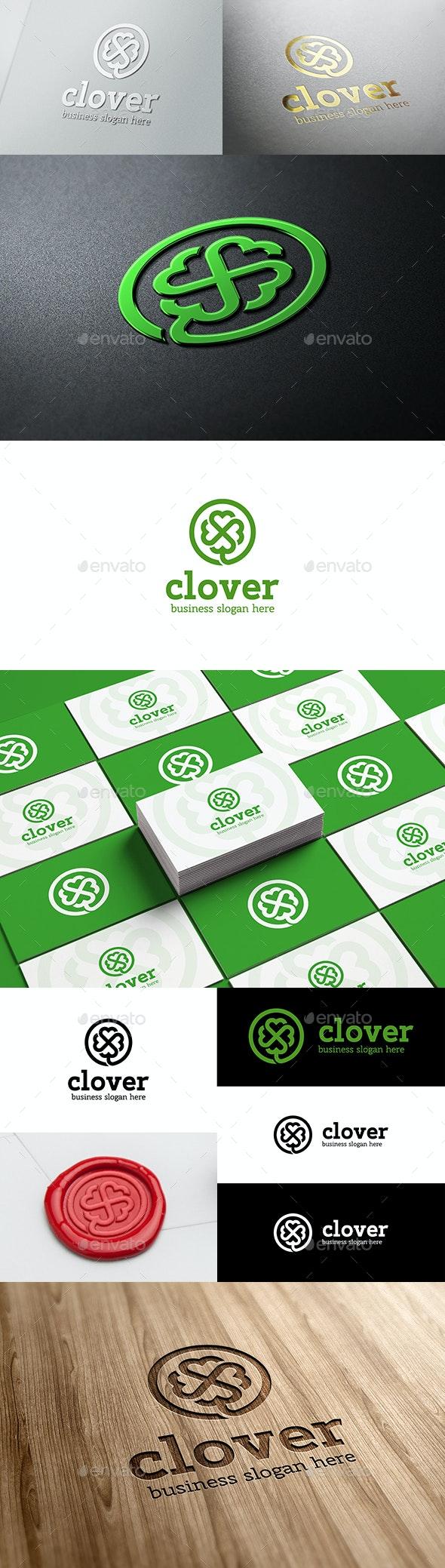 Clover Logo - Nature Logo Templates