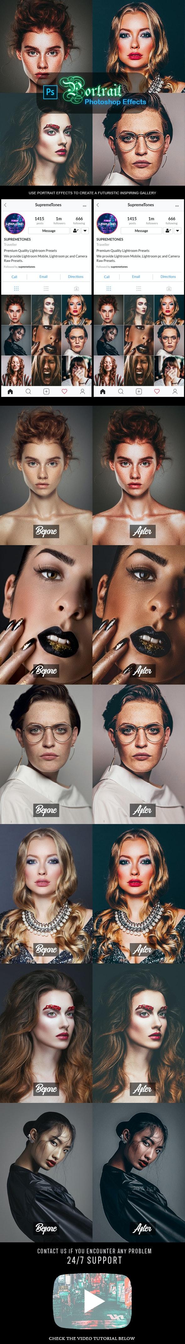 Stylish Portrait Photoshop Effects - Actions Photoshop