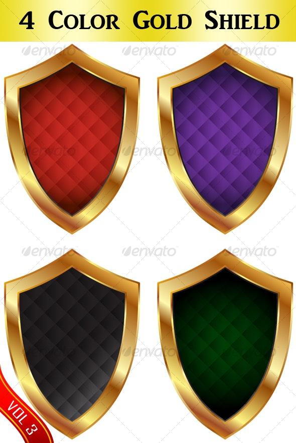 Colorful shield set - Retro Technology