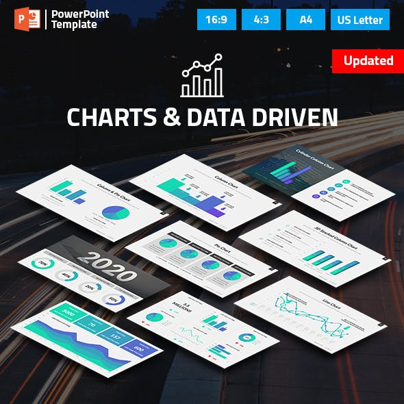 Charts and Data Driven PPT Pitch Deck