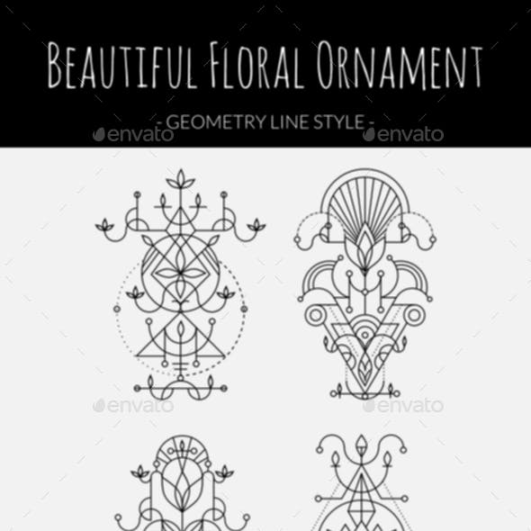 Floral Ornament Geometry Style