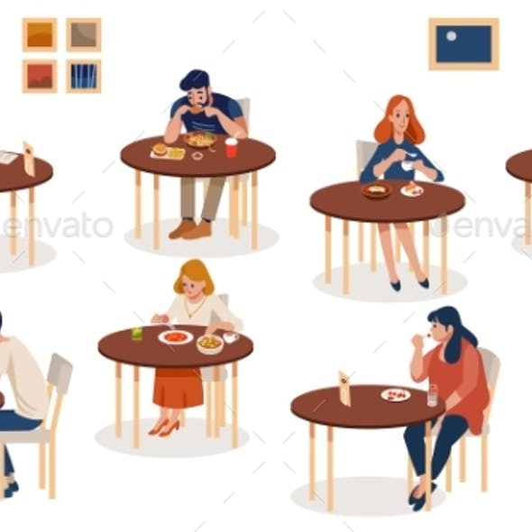 Collection of People Sitting at Tables