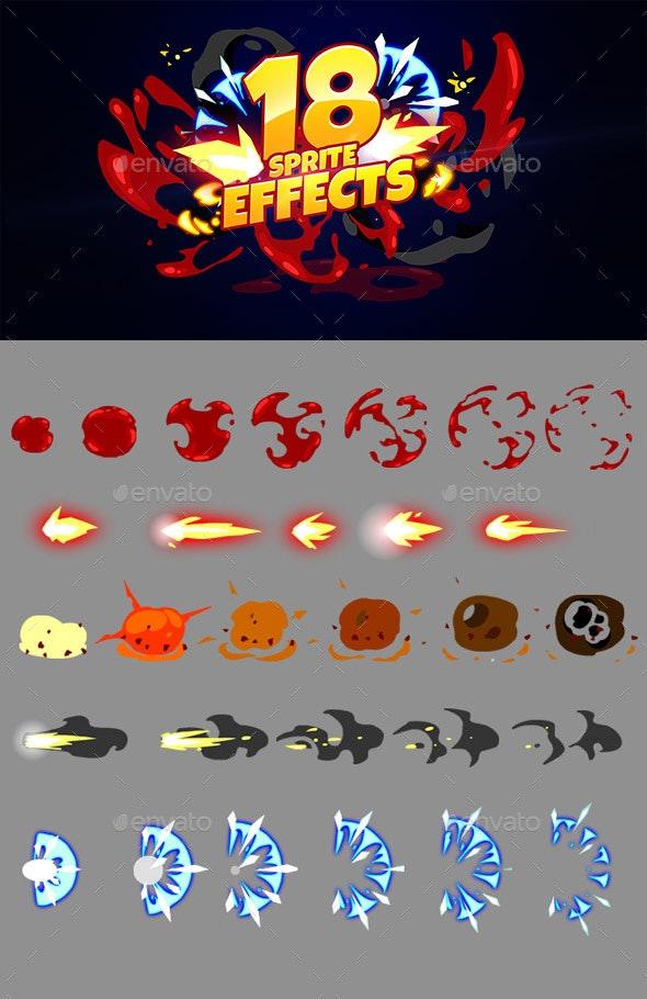 18 Sprite Effects - Sprites Game Assets