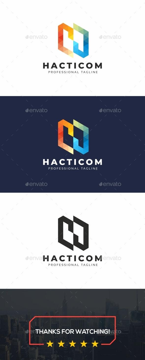 Polygon H Letter Logo - Letters Logo Templates