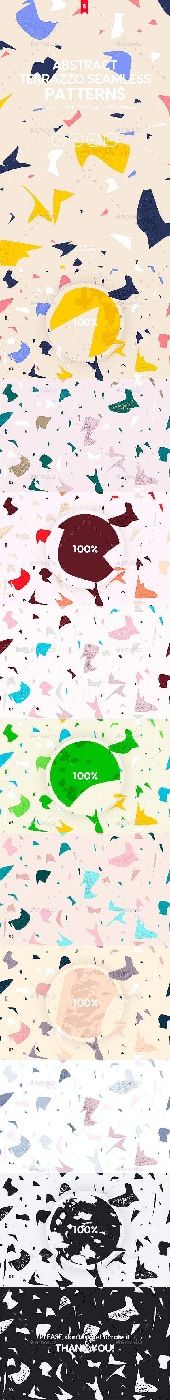 Terrazzo Seamless Patterns - Patterns Backgrounds