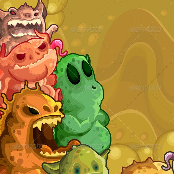 Monsters horizontal background