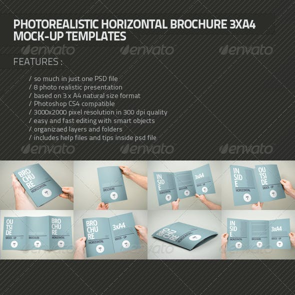 3xA4 Brochure Mock-up