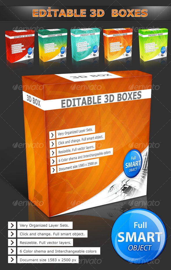 3D Boxes - Illustrations Graphics