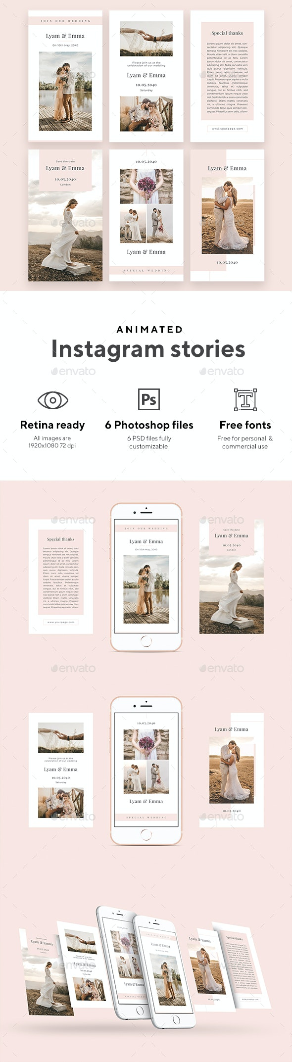 Special Wedding - Animated Instagram Stories - Social Media Web Elements