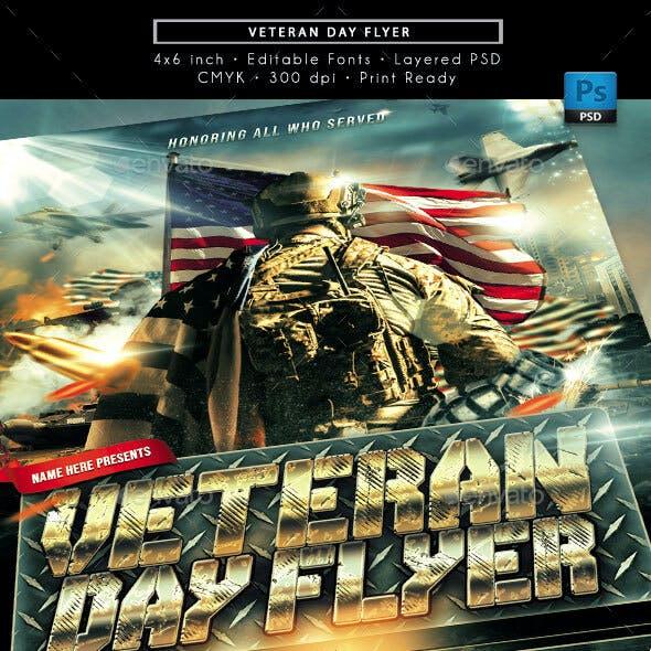 Veterans Day Honor Service Flyer