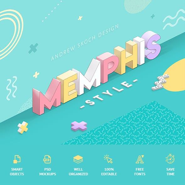 Memphis Style - Text Effects