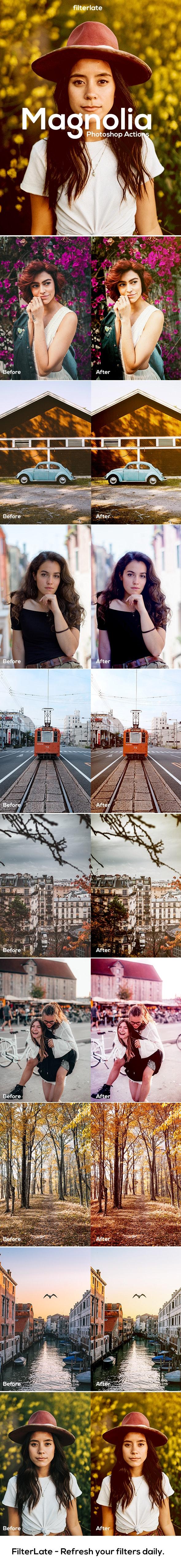 Magnolia Tones - Actions Photoshop