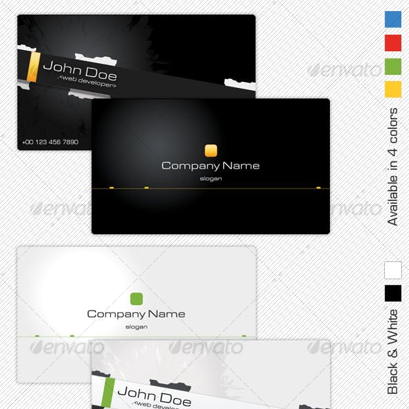 Black White Technology Business Card