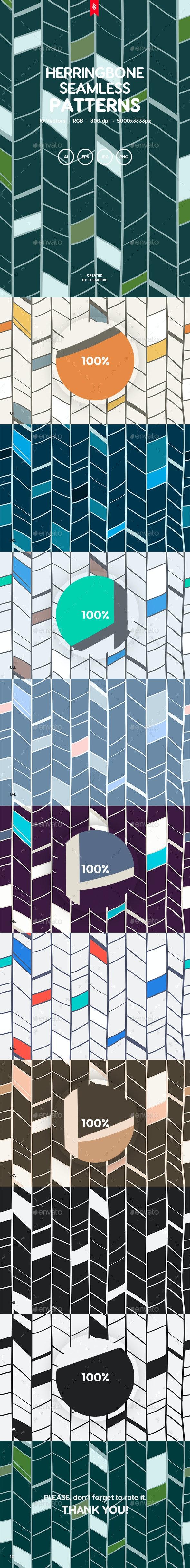 Herringbone Seamless Patterns - Patterns Backgrounds