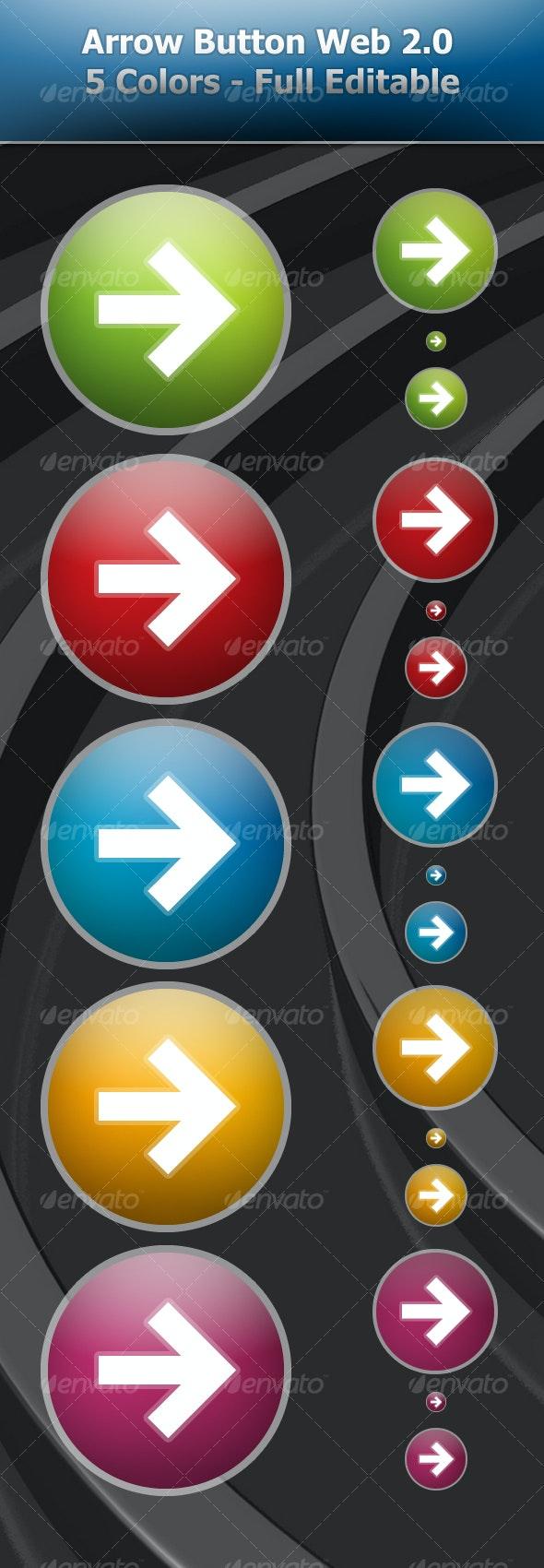 Arrow Button Web 2.0 - Buttons Web Elements