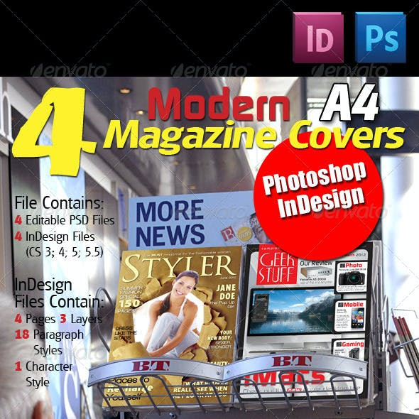 4 Modern Magazine Covers
