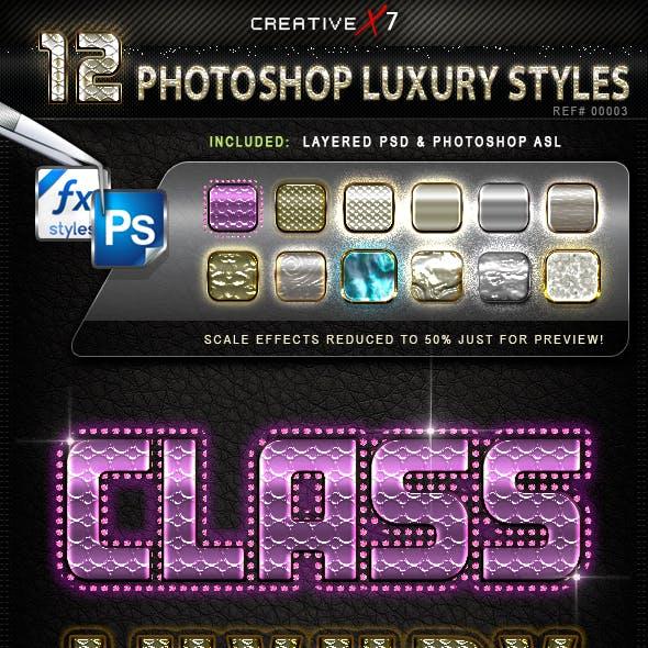 CreativeX7 - 12 Photoshop Luxury Styles