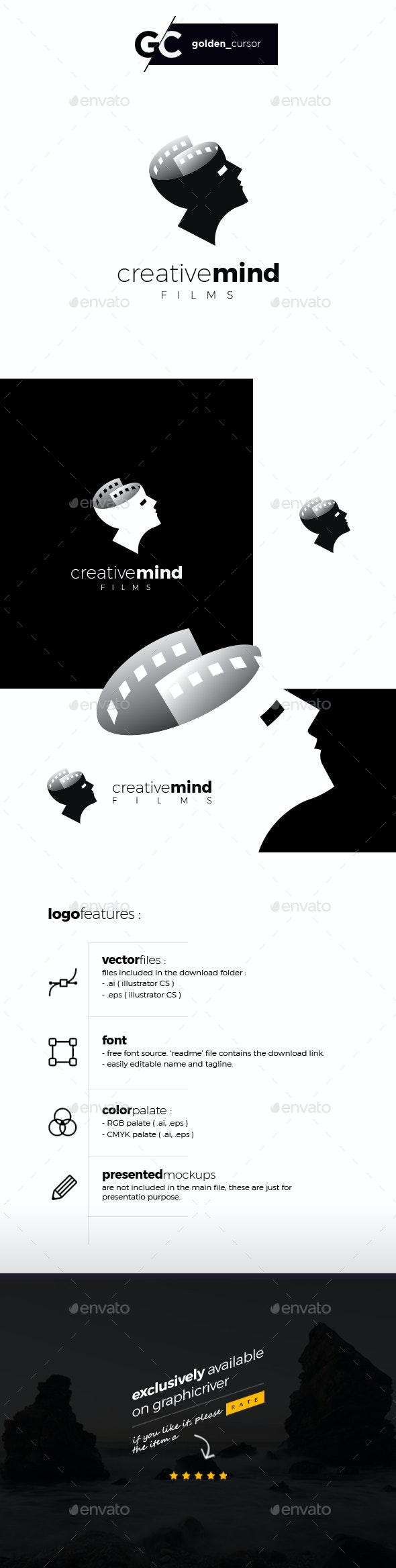 Creative mind films logo template - Objects Logo Templates