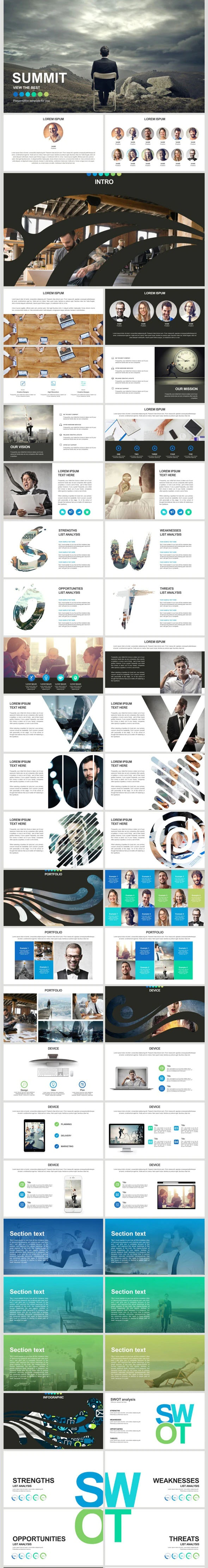 Business Summit - Business PowerPoint Templates
