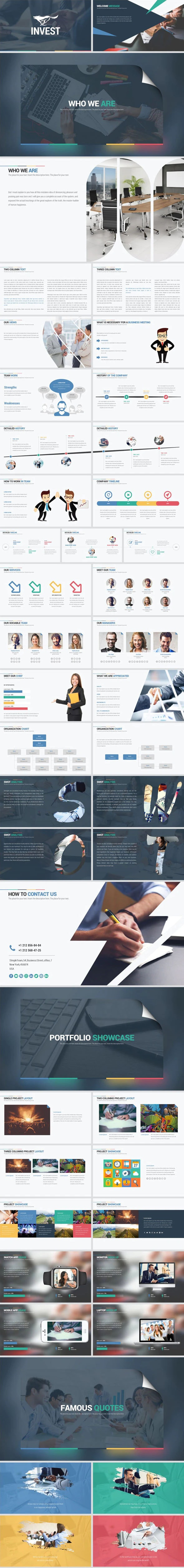 Invest Keynote Template System - Business Keynote Templates