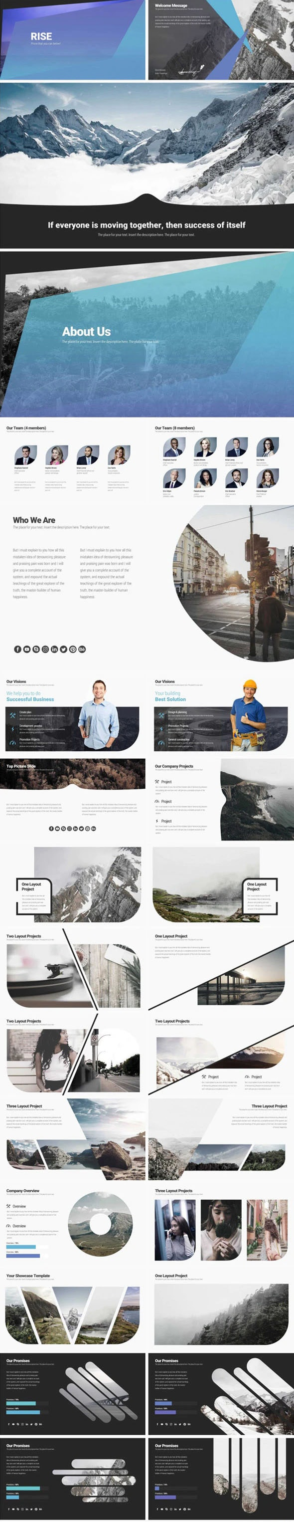 Business Rise - Business PowerPoint Templates