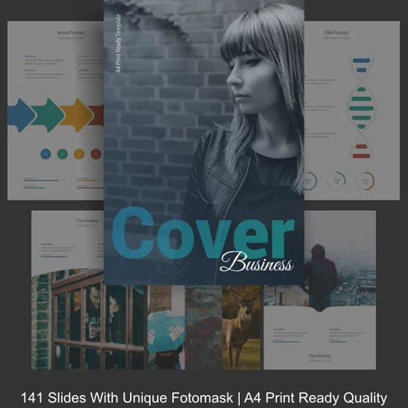 Business Cover A4 Powerpoint Template