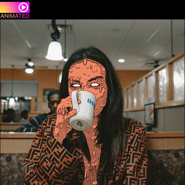 Animated Zombie Grime Art Photoshop Action