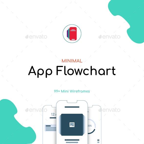 Minimal App Flowchart - Infographics