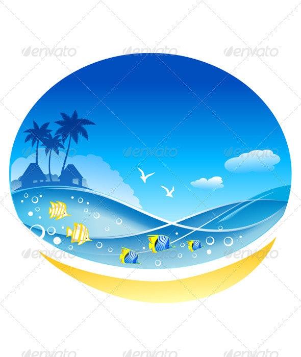 Tropical Sea Waves  - Travel Conceptual