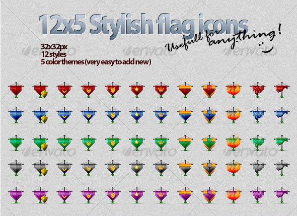 Gaming Flag Icons - Web Icons