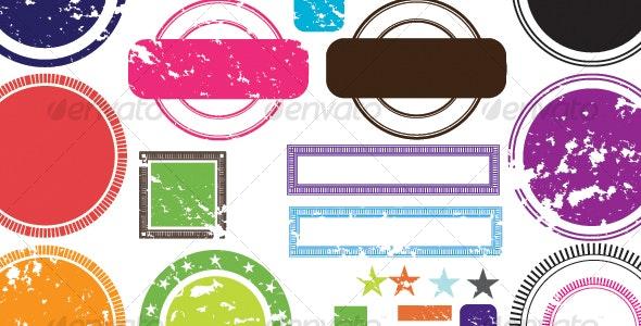 vector stamps - Decorative Symbols Decorative