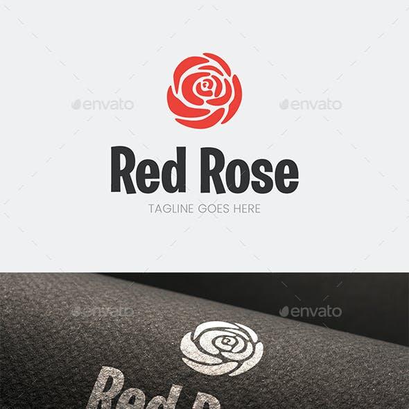 Red Rose Flower Logo