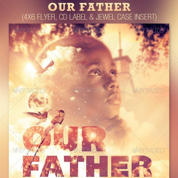 Our Father Flyer and CD Template
