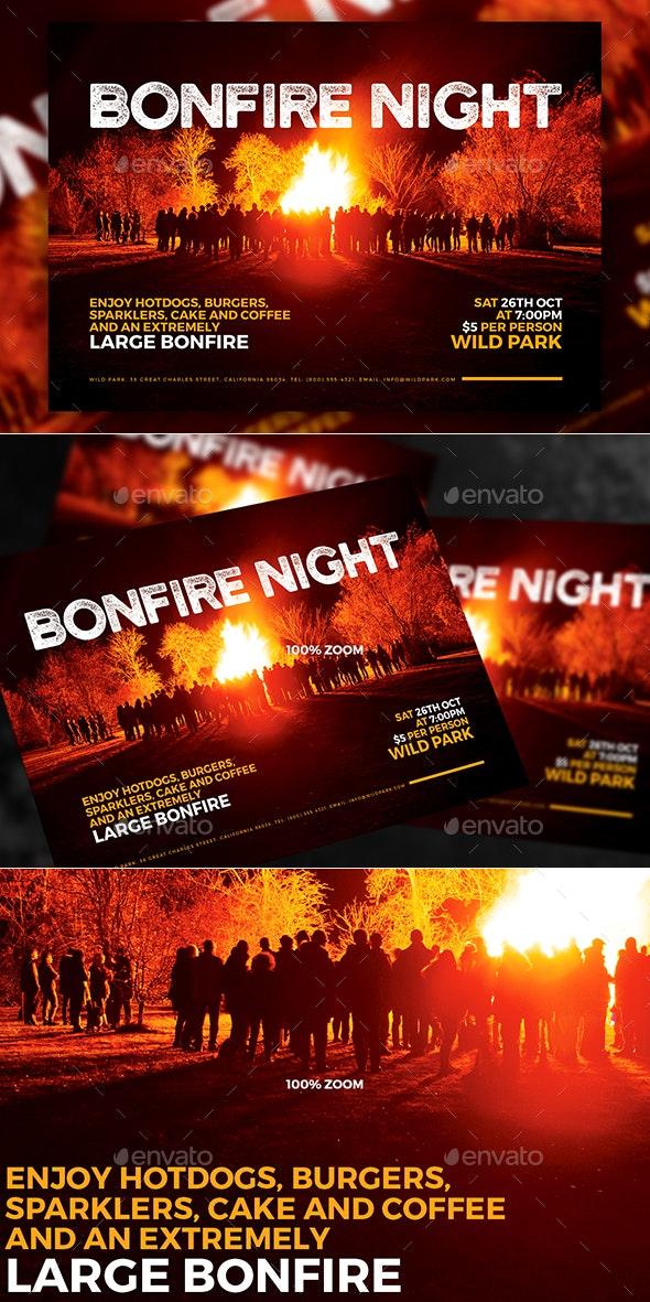 Bonfire Night A5 Flyer - Events Flyers