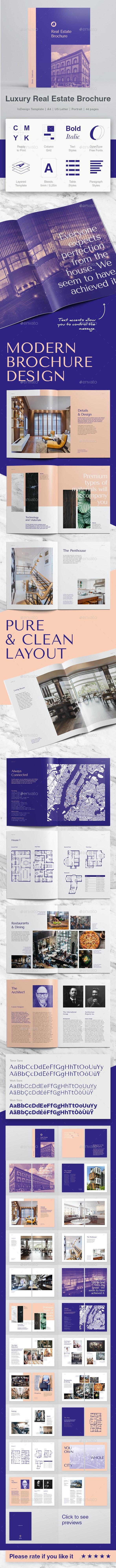 Modern Luxury Real Estate Brochure - Informational Brochures