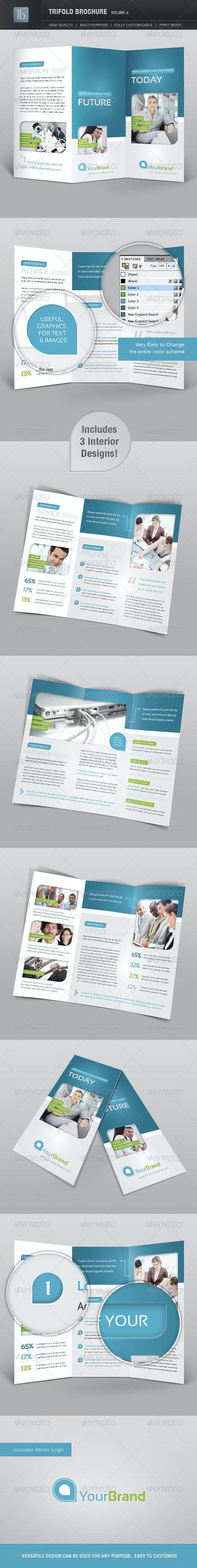 Trifold Brochure | Volume 6 - Brochures Print Templates