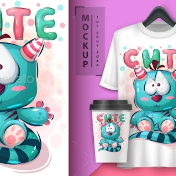 Teddy Monster Poster and Merchandising