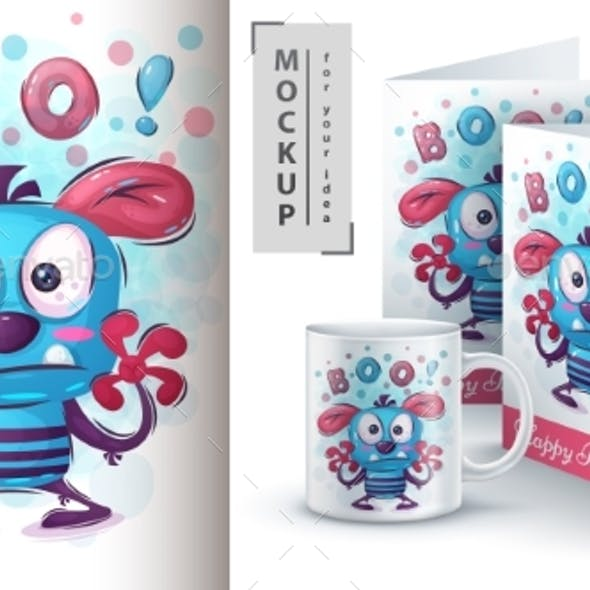 Boo Monster Poster and Merchandising