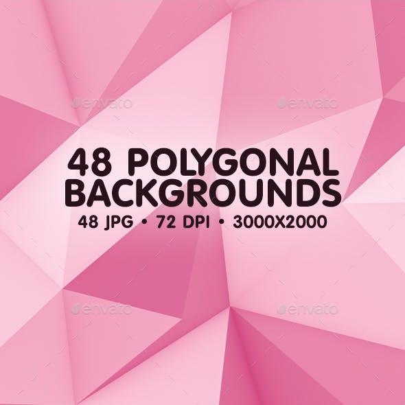 48 Polygonal Backgrounds