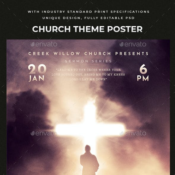 Lead Me to the Cross - Church Flyer