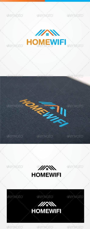 Home Wifi - Buildings Logo Templates